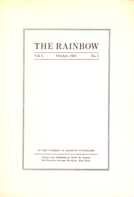 The Rainbow: Volume 1 Number 1 October 1921, Nietscheism Nietzscheism and  Realism