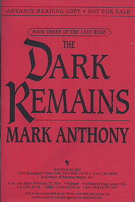 The Dark Remains. Mark Anthony.
