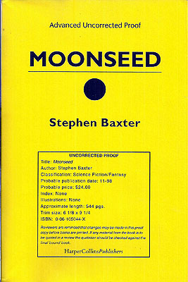 Moonseed. Stephen Baxter.