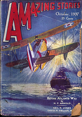 Amazing Stories October 1937. AMAZING STORIES.