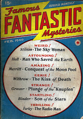 Famous Fantastic Mysteries February 1940. FAMOUS FANTASTIC MYSTERIES.