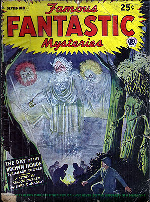 Famous Fantastic Mysteries October 1954. FAMOUS FANTASTIC MYSTERIES.
