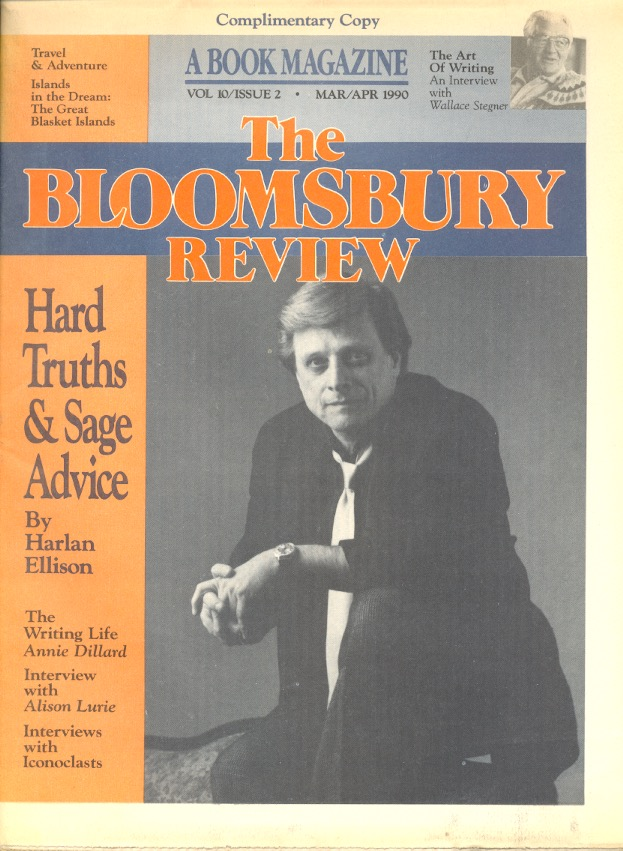 The Bloomsbury Review: Volume 10 Issue 2 March/April 1990. BLOOMSBURY REVIEW, Harlan Ellison.
