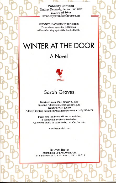 Winter at the Door: Lizzie Snow Book 1. Sarah Graves.
