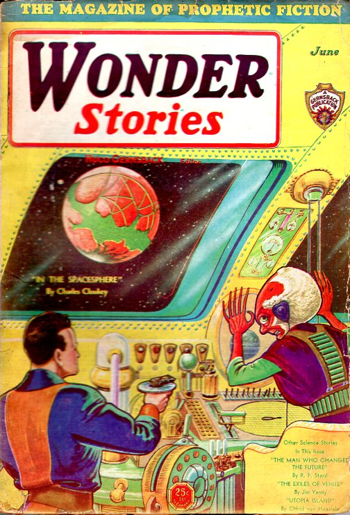 Wonder Stories June 1931. WONDER STORIES, Hugo Gernsback.