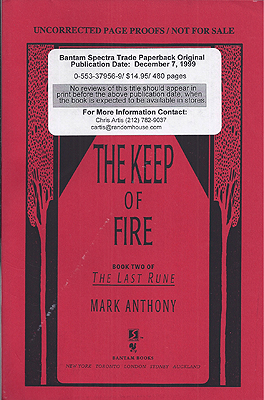 The Keep of Fire. Mark Anthony.