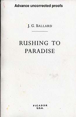 Rushing to Paradise. J. G. Ballard.