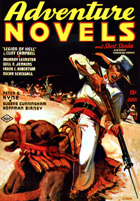 Adventure Novels and Short Stories July 1937. ADVENTURE NOVELS AND SHORT STORIES.
