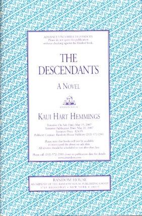 The Descendants. Kaui Hart Hemmings.
