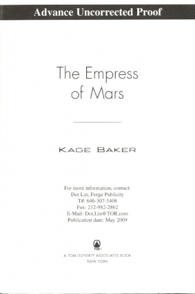 The Empress of Mars. Kage Baker