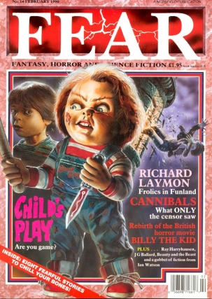 Fear Number. 14 February 1990. FEAR MAGAZINE, John Gilbert