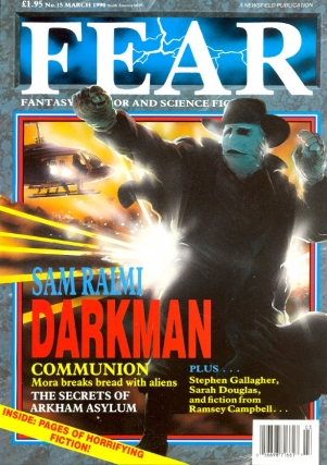 Fear Number. 15 March 1990. FEAR MAGAZINE, John Gilbert