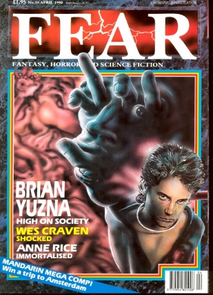 Fear Number. 16 April 1990. FEAR MAGAZINE, John Gilbert.
