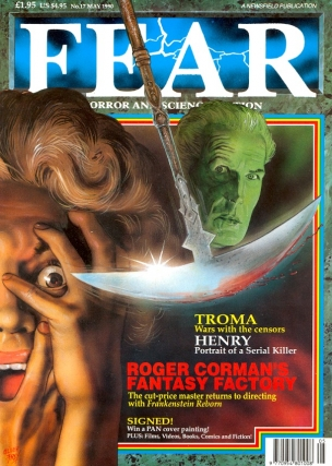Fear Number. 17 May 1990. FEAR MAGAZINE, John Gilbert