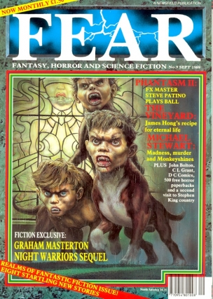 Fear Number. 9 September 1989. FEAR MAGAZINE, John Gilbert