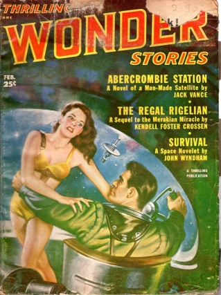Thrilling Wonder Stories: February 1952. THRILLING WONDER STORIES