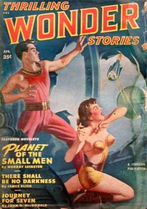 Thrilling Wonder Stories: April 1950. THRILLING WONDER STORIES