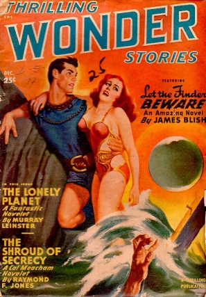 Thrilling Wonder Stories: December 1949. THRILLING WONDER STORIES